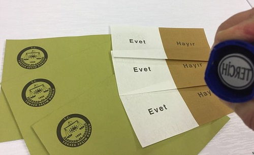 2017 Turkish referendum ballot paper 1